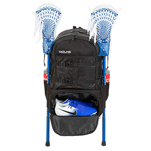 Wolks XXL Premium Lacrosse Bag, Trusted Quality Sports Lacrosse Backpack for Men and Women; Great for Lacrosse, Field Hockey, Soccer and for Travel