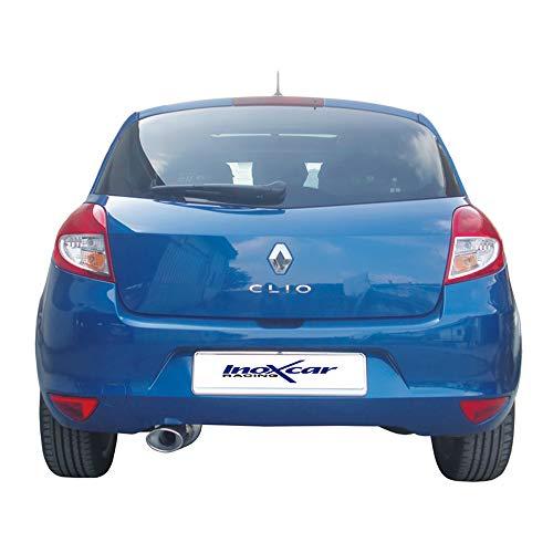 Inoxcar RECL.21.120 Sportauspuff für Renault Clio III 1.2 16 V (75 PS), 2005-120 x 80 mm