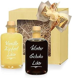 Geschenkbox Winter Likör Vanillekipferl Likör & Winter Schokolade Likör 2x 350 ml