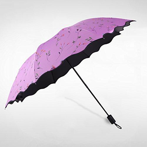 Sunsan Eland verkauf Ultraleicht Sommer dual-purpose siebzig Prozent aus UV-Sonnenschirm portable Bleistift Regenschirm, Zys 109 - (lila Blüten)