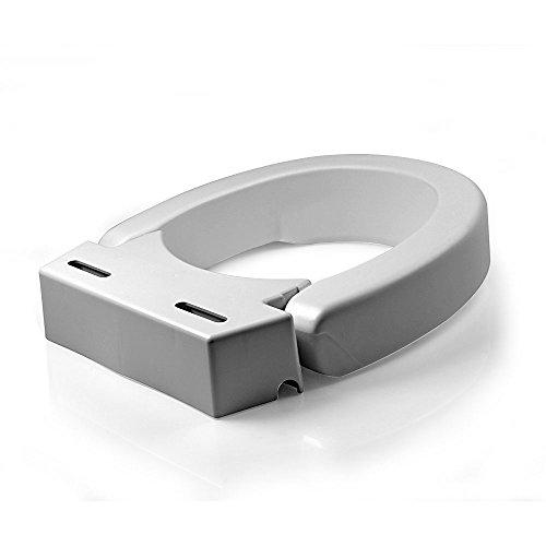 Maddak SP Ableware Hinged Elevated Toilet Seat, Elongated
