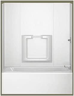 31 in. x 60-1/2 in. x 58 in. Five Piece Glue-Up Tub Surround in White