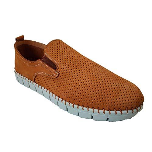 Zapato Hombre Ancho Especial cómodos Super Flexibles Primocx en Camel