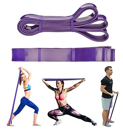 FEGSY Resistance Bands for Exercise, Stretch Loop Pull up Assist Bands for Fitness, Home Gym Workout, Stretching for Men, Women (Purple (35-85 LBS))