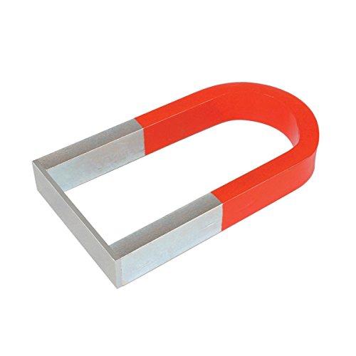 Magnete a ferro di cavallo, ideale per esperimenti su forza magnetica e campi magnetici.