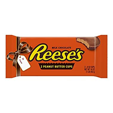 REESE'S Peanut Butter Cups, Chocolate Candy, Worlds Largest, 1 Pound, 2 Cups