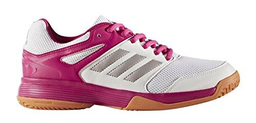 adidas Damen Fitnessschuhe, Mehrfarbig (Ftwbla/Pltémé/Rosfue 000), 39 1/3 EU