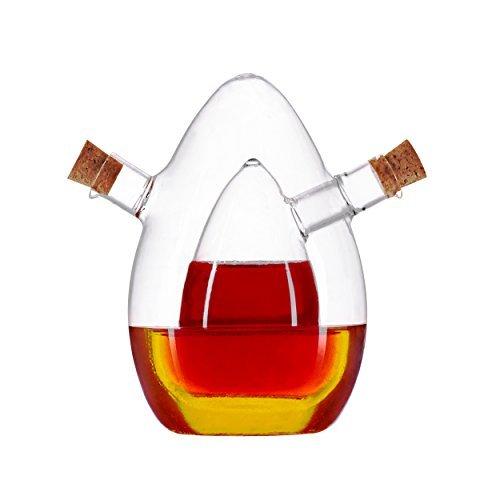 Essig- und Öl-Spender aus Glas - 2in1- Karaffe - edles Design
