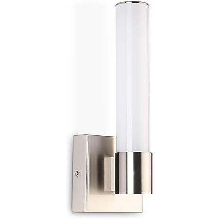 Amazon Com Joosenhouse Led Bathroom Wall Sconce Modern Indoor Mirror Side Vertical Vanity Light Fixtures In Bedroom Nickel Finish 4000k Home Improvement