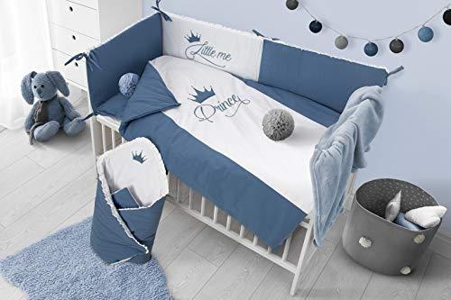 Belisima 5902012149362 Royal Baby - Juego de cama (funda de edredón de 90 x 120 cm, funda de almohada de 6 cm), color azul y multicolor