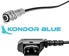 """KONDOR BLUE 20"""" D-Tap to BMPCC 4K Power Cable for Blackmagic Pocket Cinema Camera 4K and Gold Mount V Mount Battery P TAP Weipu"""