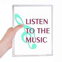 音楽を楽しむ 硬質プラスチックルーズリーフノートノート
