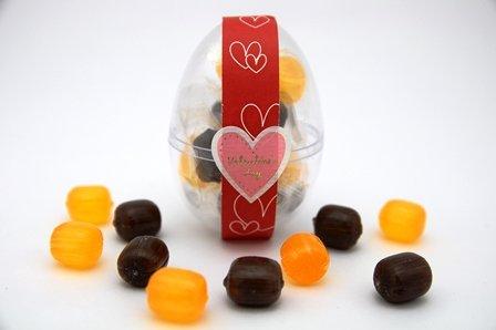 バレンタイン ちょこたま チョコ飴×オレンジ飴 90個
