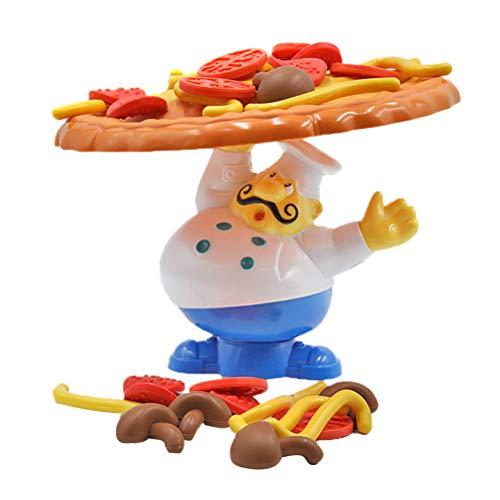 STOBOK Niños Pizza topple para 2–4Jugadores o Familiar apilamiento de Pizza Pile Up Balancing Desktop Game Toys