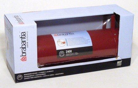 brabantia Z400 - Zeitungsrolle Weinrot feuerverzinkt mit wetterbeständiger Polyesterbeschichtung