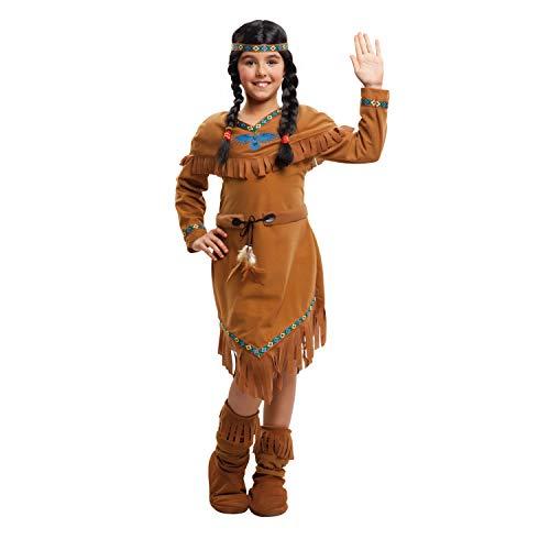 My Other Me Me-203389 Disfraz de india velvet para niña, 5-6 años (Viving Costumes 203389)