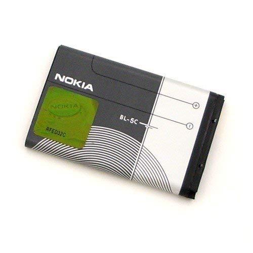 Nokia BL-5C  Batteria agli ioni di litio originale per 1100 1101 1110 1110i 1112 1600 2300 2310 2600 2610 2626 3100 3120 3650 3660 6030 6085 6230 6230i 6267 6270 6600 6630 6670 6680 6681 6820 6822 7600 7610 E50 E60 N-Gage N70 N70 Music N71 N72 N91 N91 8GB
