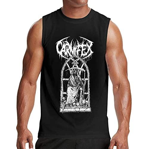 Lsjuee Carnifex Camiseta sin Mangas para Hombre Workout Gym Tank Tops Negro