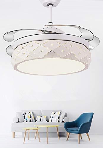 Luz de fanáticos invisibles 42 pulgadas  Fan Light Dormitorio Light  Fábrico de techo de techo Techo Invisible Ventilador de techo Luz Fuente de luz LED