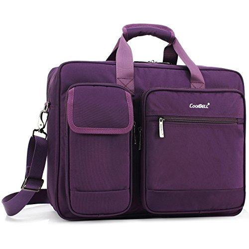 CoolBell Tasche Schutzhülle Testkarte für Notebook 17,3Zoll aus Nylon mit Schulterriemen für Notebook/Ultrabook/Tablet/MacBook/Dell/HP/für die Arbeit, für Herren und Damen 17,3 Pollici Violett
