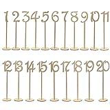 LEORX 1–20boda mesa números Soporte Base para Boda Home Decoración paquete con 20