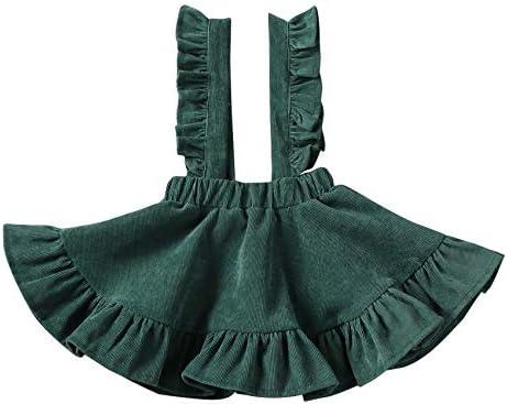 Baby Girls Floral Velvet Suspender Skirt Infant Toddler Ruffled Casual Strap Sundress Summer product image