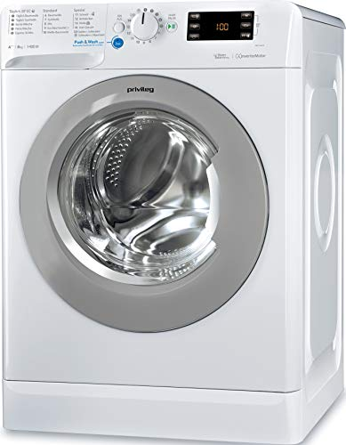 Privileg PWF X 843 S Waschmaschine Frontlader / A+++ -10% / 1400 UpM / 8 kg / Mengenautomatik/Startzeitvorwahl/Maschinenreinigung/Inverter Motor/Wasserschutz/Daunen/Wolle/Kindersicherung