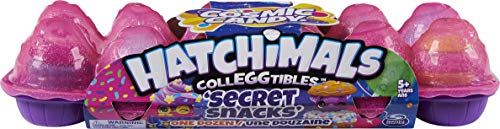 Hatchimals CollEGGtibles Cosmic Candy 12er-Eierkarton mit seltenen Secret Snacks Sammelfiguren