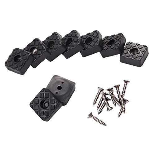 INCREWAY 24 tappetini quadrati neri per mobili, 22 x 9 mm, antiscivolo, per tavolo, scrivania, sedia, divano, gambe, mobili per proteggere pavimenti in legno