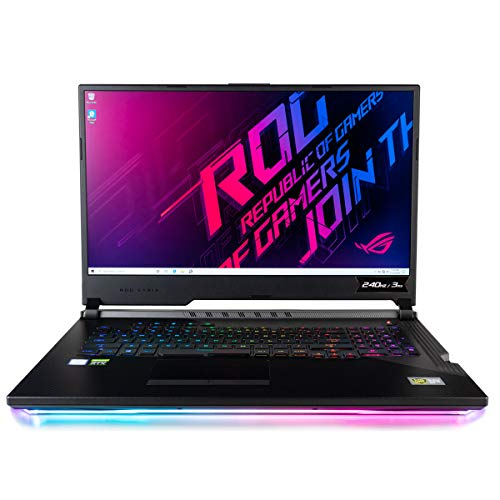 "CUK ASUS ROG Scar III G731GW Gaming Laptop (Intel i7-9750H, 32GB RAM, 2TB NVMe SSD + 2TB HDD, NVIDIA GeForce RTX 2070 8GB, 17.3"" Full HD 240Hz 3ms, Windows 10 Home) Gamer Notebook Computer"