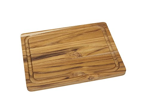 Lipper International Schneide- und Servierbrett aus Teakholz Cutting and Serving Board (Small) Small braun (teak)
