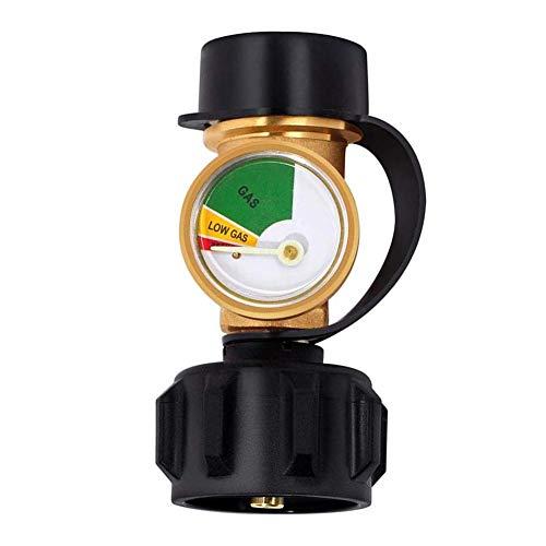 Gasflessen vulstandindicator Ropan niveau-indicator propaanaanaanaanduiding vulstandindicator lekdetector gasdrukmeter voor campers, cilinder, gasgrill, verwarming en propaanfles met type 1-aansluiting.