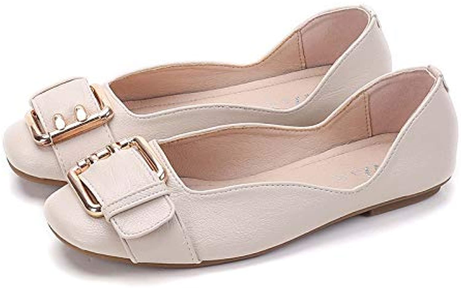 Meimeioo Womens Square Toe Slip On Ballet Flats Ballerina Flat Dress shoes