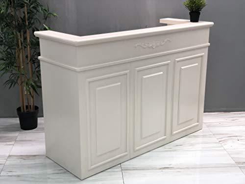 Mesa de Oficina Mostradores para Tiendas o Recepción Mueble Blanco