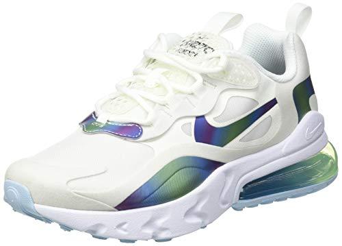Nike Air MAX 720 React, Zapatillas para Correr Niños, Summit White/Platinum Tint/Bianco/Multicolore, 36.5 EU