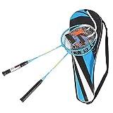 Raquette de badminton durable pour enfants en fibre et alliage d'aluminium