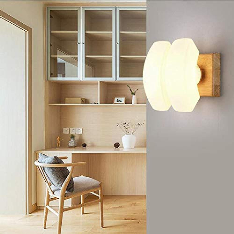LL Wandlampe Nordic Solid Wood Corridor Wall Japanese Room Hotel Wood Wall Lighting,C,22X12CM