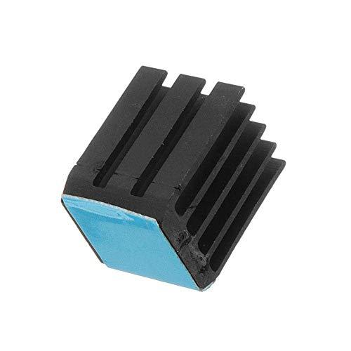 Printer Accessories 3D Printer Accessories, Black 12PCS TMC2100 Stepper Motor Driver Cooling Heatsink with Back Glue for 3D Printer Printer