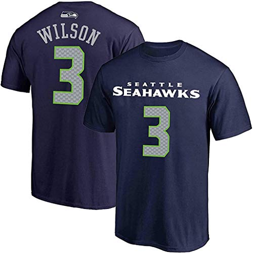 NFL Boys Youth 8-20 Team Color Mainliner Official Player Name & Number T-Shirt (Russell Wilson, Youth Medium 10-12)