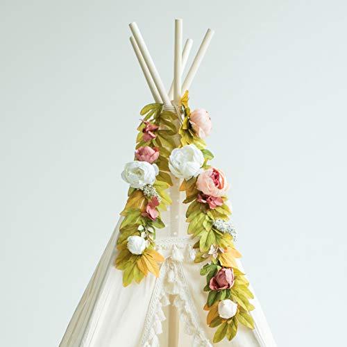 Guirlande de Fleurs de Style Bobo, Guirlande Florale, Guirlande de Pivoines, Haut de Tipi Décoration