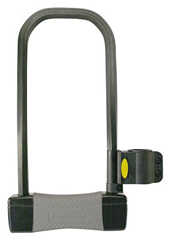 MICHELIN Erwachsene Fahrradbügelschloss mit 3 Schlüsseln Schlüsselöffnung Bügel und Halter für den Fahrradrahmen Fahrradschloss, Schwarz, 165x320 mm