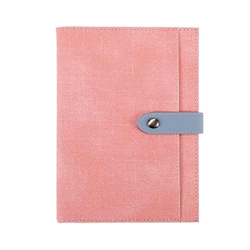 FACHAI Cuaderno A5, tapa dura de cuero con soporte para bolígrafos, bloc de notas con marcadores, 200 páginas, páginas de 80 g/m², 14,8 x 22 cm