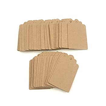 200pcs Kraft Paper Earring Cards Holder Earrings Price Tags Ear Studs Jewelry Display Card Holder Mini Tags Writable Tags Craft Hang Labels Name Price Size Labels for Wedding Birthday  Brown
