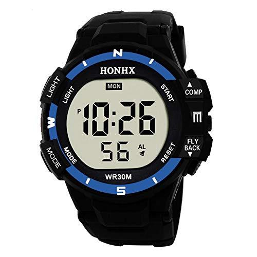 SportsLuxury hombres electrónico analógico digital militar deporte LED alarma reloj impermeable reloj de pulsera casual