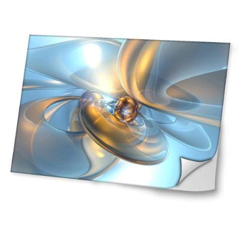 """Virano Abstrakt 10011, Modern, Skin-Aufkleber Folie Sticker Laptop Vinyl Designfolie Decal mit Ledernachbildung Laminat und Farbig Design für Laptop 17\"""""""