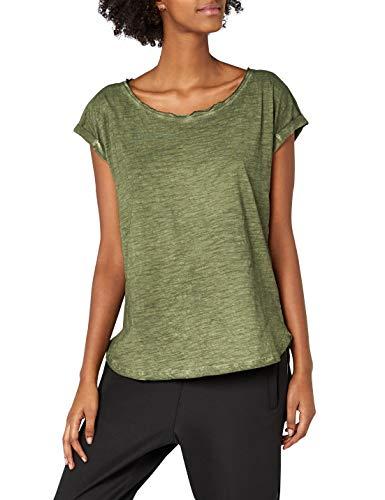 Urban Classics Damen Ladies Long Back Shaped Spray Dye Tee T-Shirt, Grün (Olive 176), X-Large