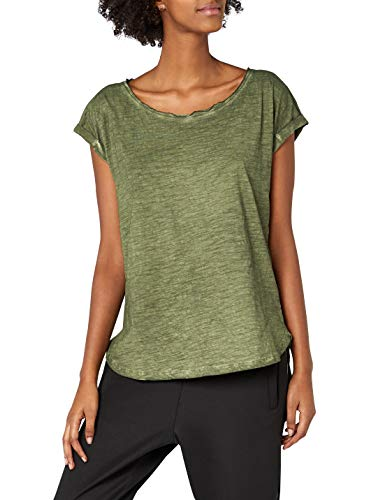 Urban Classics Damen Ladies Long Back Shaped Spray Dye Tee T-Shirt, Grün (Olive 176), Large