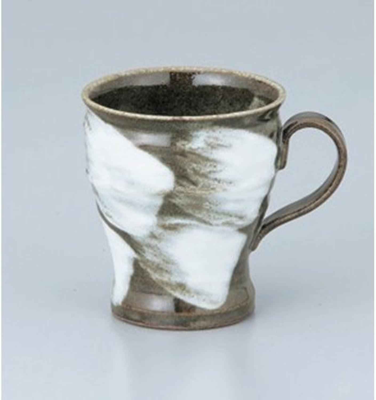 Mug utw666-18-354 [4.6 x 3.4 x 3.8 inch 7.8floz] Japanece ceramic Mashiko rough brush mug tableware