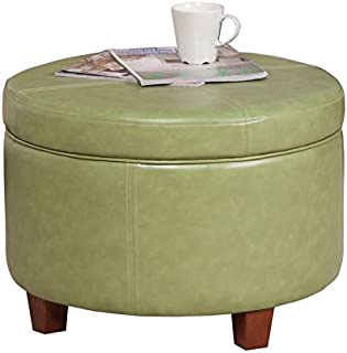 Pleasant Amazon Com Round Storage Ottomans Machost Co Dining Chair Design Ideas Machostcouk