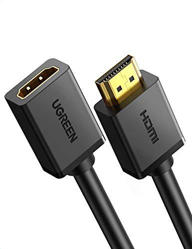 UGREEN Cavo Prolunga HDMI Maschio Femmina Alta Velocità con Ethernet, Supporta 4k 3D per PS4, PS3, Xbox One, SkyBox, Roku, Lettore Blu-Ray, DVD, TV, PC, Monitor, Proiettore, HDTV(3M)